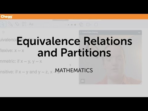 Equivalence Relations And Partitions | Math | Chegg Tutors