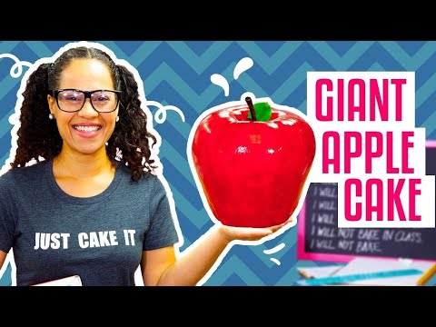 How To Make A GIANT APPLE Out Of CAKE For Back-To-School Season   Yolanda Gampp   How To Cake It