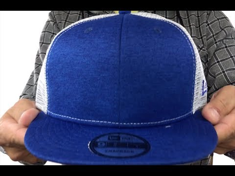 0a5fd5f77a9 New Era  MESH-BACK BLANK SNAPBACK  Royal Shadow Tech-White Adjustable Hat