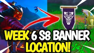 Fortnite WEEK 6 Secret Banner Location! Fortnite SEASON 8 Week 6 Banner LOCATION!