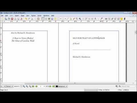 How to Typeset a Novel in Scribus Part 7: Formatting Front Matter
