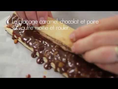 bûche-de-noël-crème-au-beurre-chocolat,-poires,-caramel