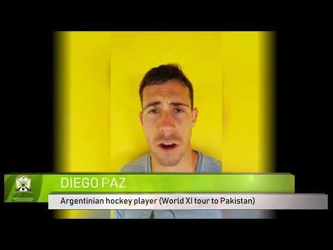 Diego Paz Hockey World XI tour to Pakistan