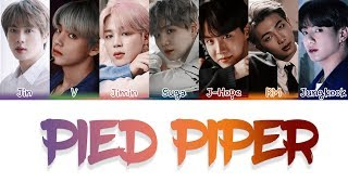 BTS (방탄소년단) - Pied Piper Lyrics [Color Coded_Han_Rom_Eng]