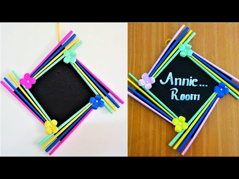 How to Make a Paper Photo Frame | Easy Photo Frame Tutorial | diwali decoration ideas | Nameplate