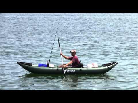 Nrs pike inflatable fishing kayak doovi for Fissot fishing kayak