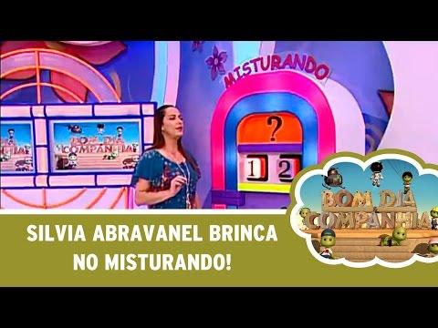 """Silvia Abravanel brinca no jogo  """"Misturando"""""""