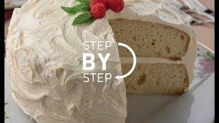 White Velvet Cake Recipe, Recipe For White Cake, White Velvet Cake Recipe, How To Make White Cake