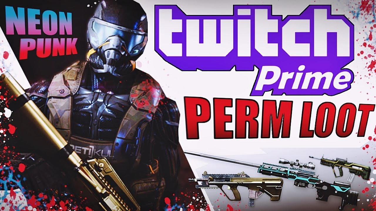 Warface Twitch Prime loot - Free permanent Neon Punk weapons