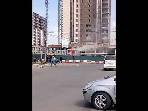 Пожар в Ярославле у Ярославского автовокзала.смотреть всем!