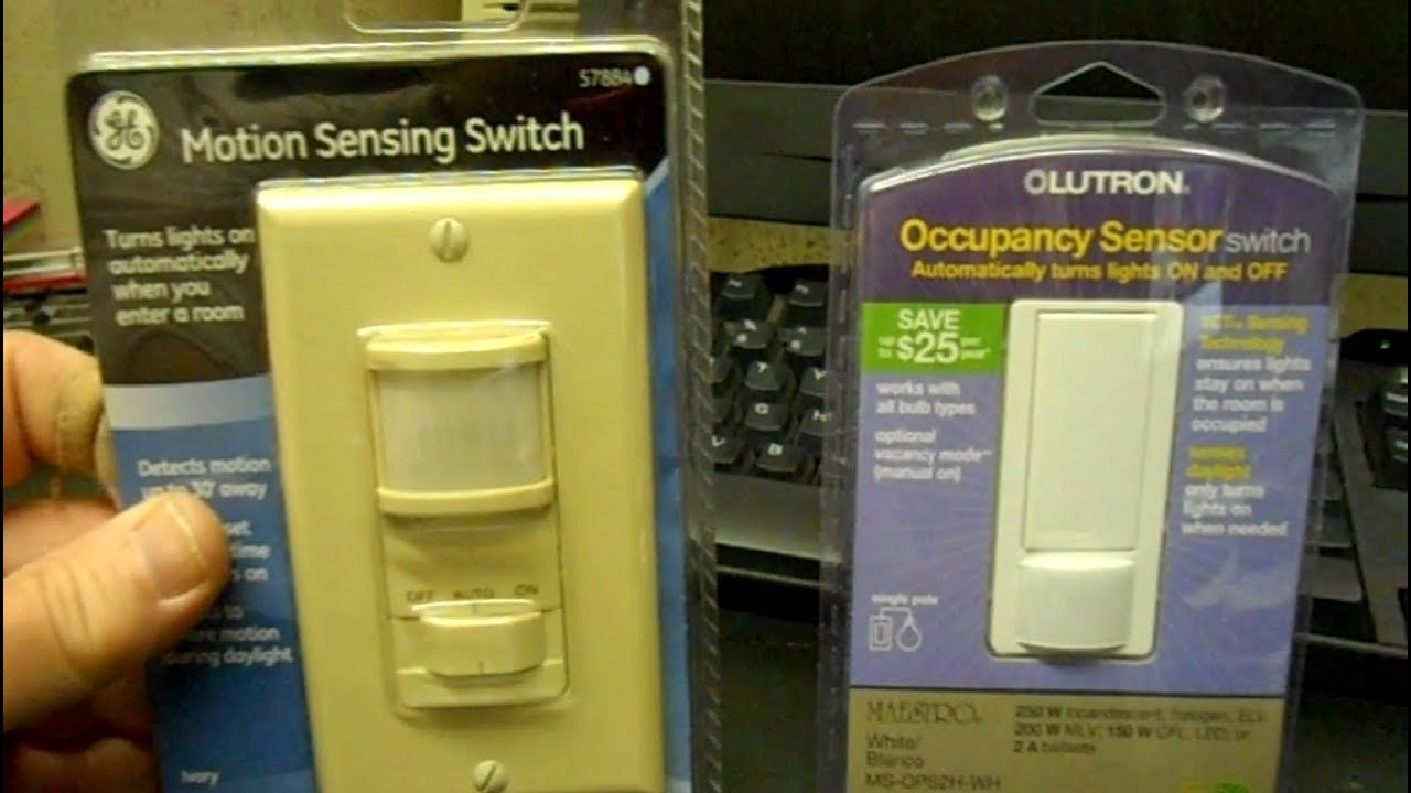 How To Install A Motion Activated Light Switch Youtube Wiring Timer