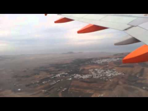 Take off from lanzarote airport to Belfast Northern Ireland on easy jet flight. 2/2/2016 at 17.15.