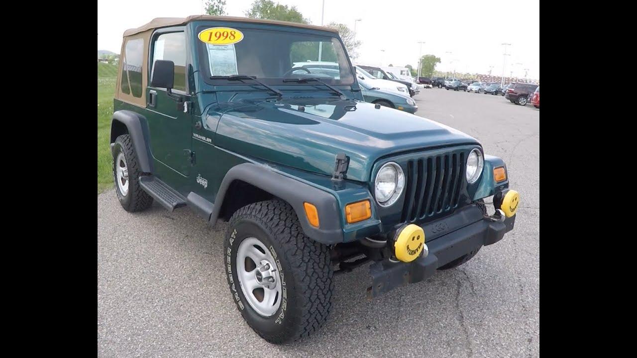 1998 jeep wrangler se p10246b