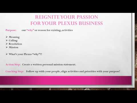 Reignite your Passion for your Plexus Business with John Maxwell coach Chad Patterson