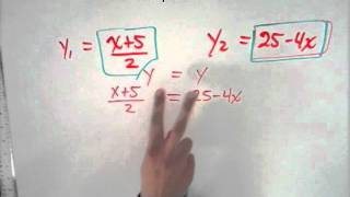 Résolution d'un système d'équation par comparaison