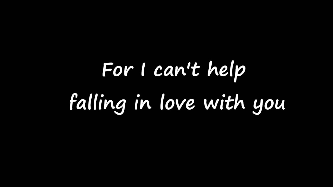 Can't help falling in love with you (Stelios Daf's version ...
