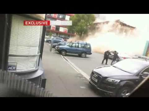 CCTV footage from the moment the 6.3M Earthquake hit Christchurch CBD