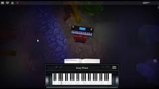 Monody de: TheFatRat ft. Laura Brehm en un piano ROBLOX.