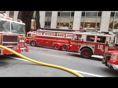FIRE @ Grand Central Terminal High-Rise NYC LISTEN to SECURITY