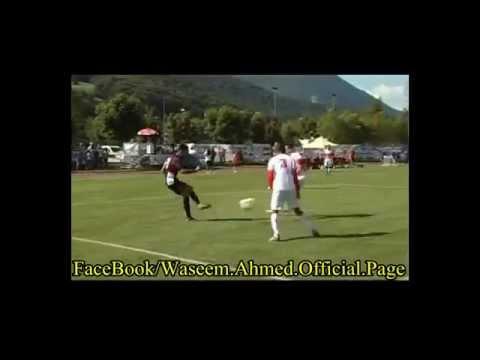 عبد الله ياسين يراوغ 4 لاعبين ويسدد في القائم