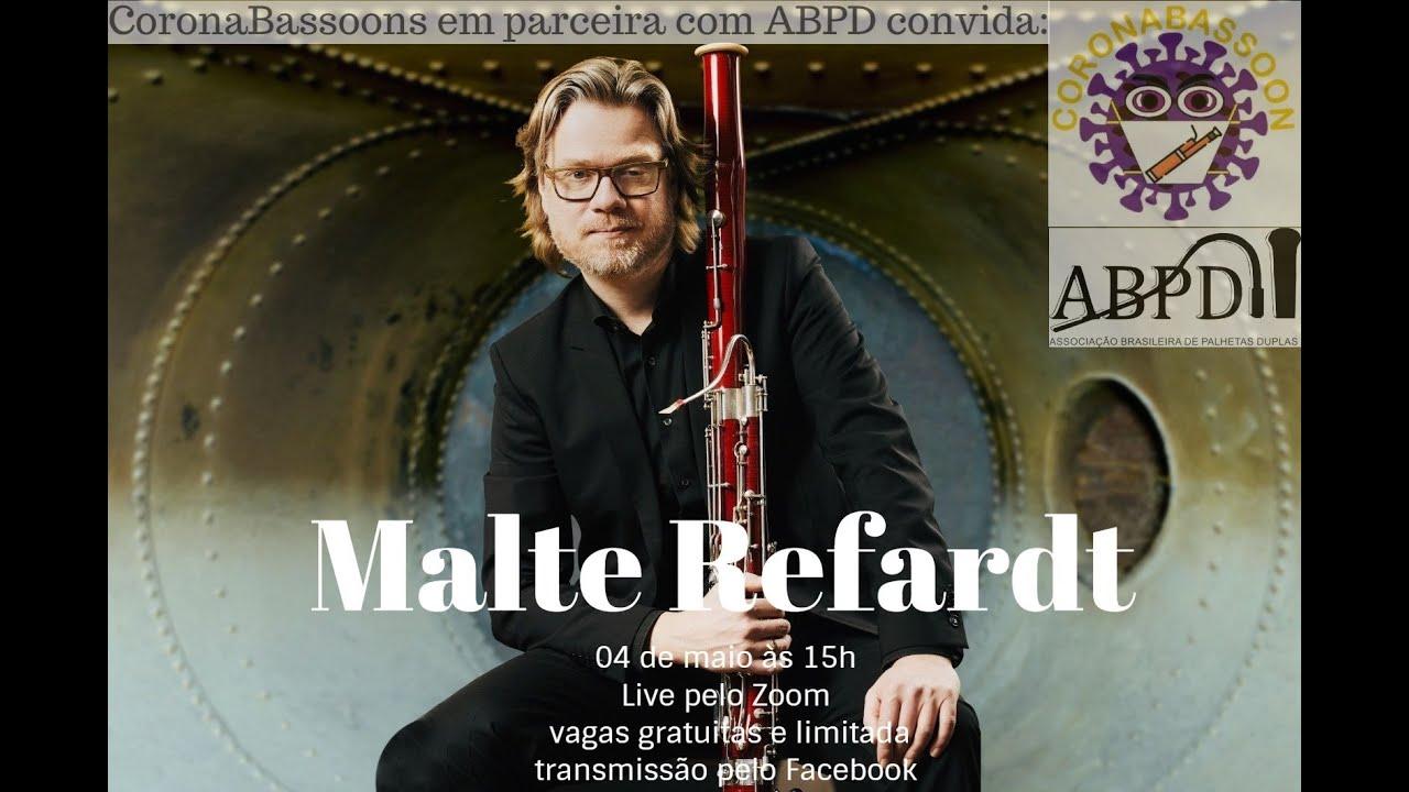 Live com o professor Malte Refardt