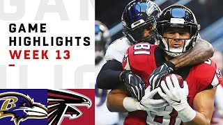 Ravens vs. Falcons Week 13 Highlights | NFL 2018