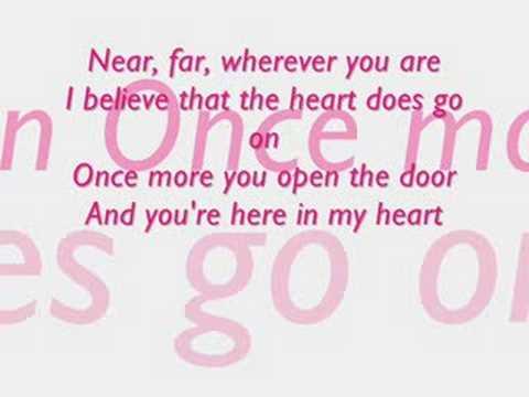 Celion Dion-My heart will go on lyrics