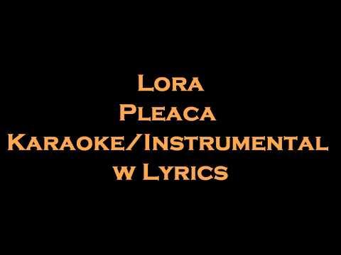 Lora - Pleaca Karaoke/Instrumental w Lyrics