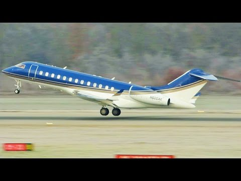 [FullHD] *Amazing Livery* Private Bombardier Global Express takeoff at Geneva/GVA/LSGG