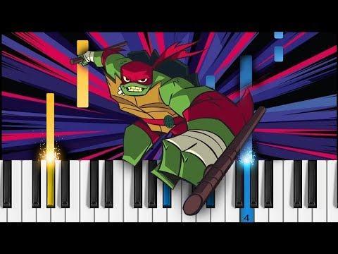 Rise of the Teenage Mutant Ninja Turtles [NEW SERIES] - Theme Song - Piano Tutorial