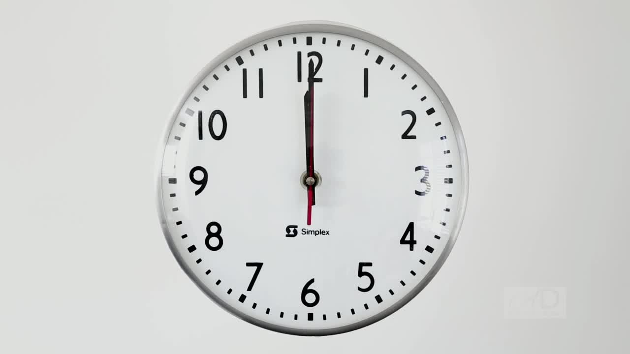 12 / 24 Hour Wall Clock | LED Wall Clock | Military Time ...