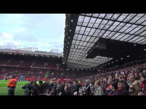 Walking to Old Trafford, into the Ground, Players Entrance Manchester United v Chelsea