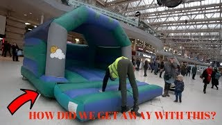 SETTING UP BOUNCY CASTLE IN RIDICULOUS PLACES! Police came..