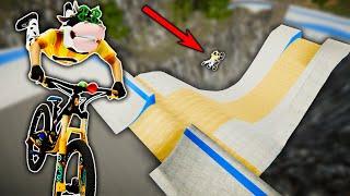 BIKING THE SUPER ULTRA MEGA PARK FROM SKATE 3?! (Descenders)