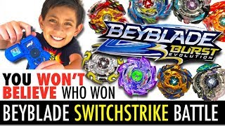 Best Beyblade Switchstrike Battle!  New Beyblade Burst Evolution Tournament!