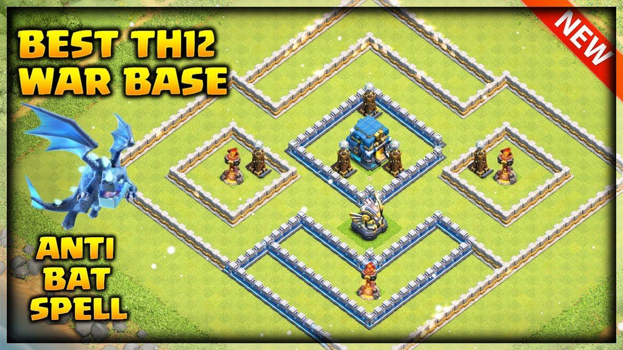 Th12 War Base 2019 Anti Electro Dragon Anti Bat spell Anti