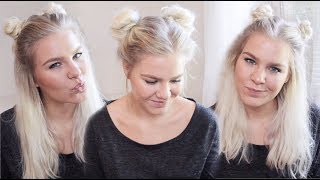 Space Buns In 3 Different Ways • Back To School Hairstyles | ShinyLipsTv
