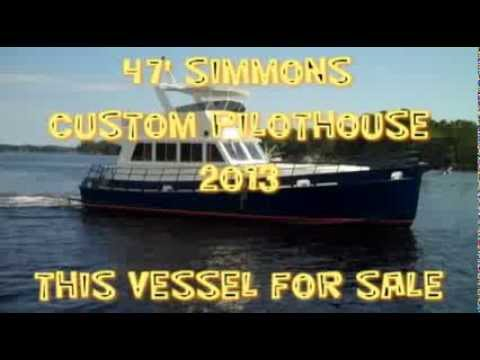 47' Simmons Aluminum Custom Pilothouse Cruiser 2013 for Sale in Destin, FL (Exterior)