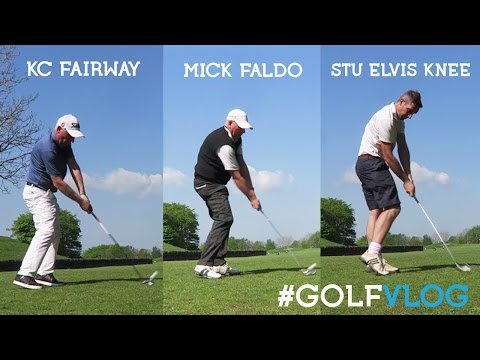 Golf vlog with mick faldo how to hit fairways with KC #golf #golfvlog