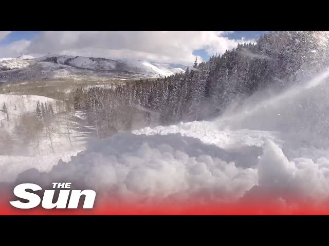 GoPro captures terrifying moment skier gets caught in an avalanche