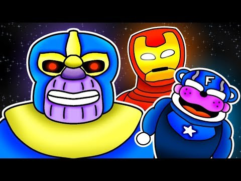 Minecraft Fnaf: Avengers Infinite War At The Pizza Place (Minecraft Roleplay)