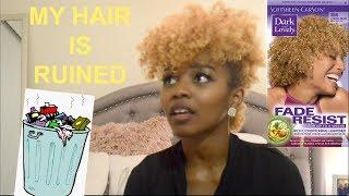 TRASH!? Dark & Lovely Light Golden Blonde Hair Color Review 🗑🙄👎🏾😡