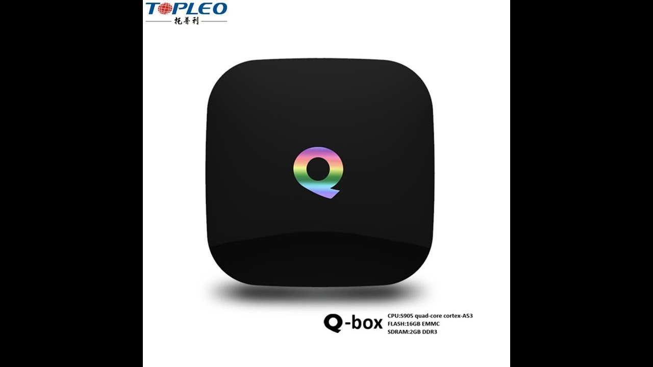 QBOX Firmware update amlogic s905x android tv box Real 4K super Mini  android digital player