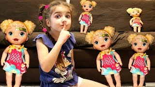 My super fun day with Baby Doll, Masha play with toys for girls