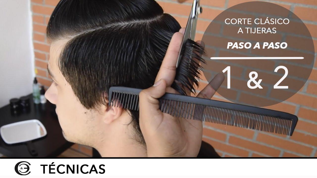 Corte de pelo corto con tijera