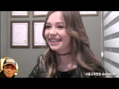 the angel singer Connie Talbot interview in seoul education broadcasting press