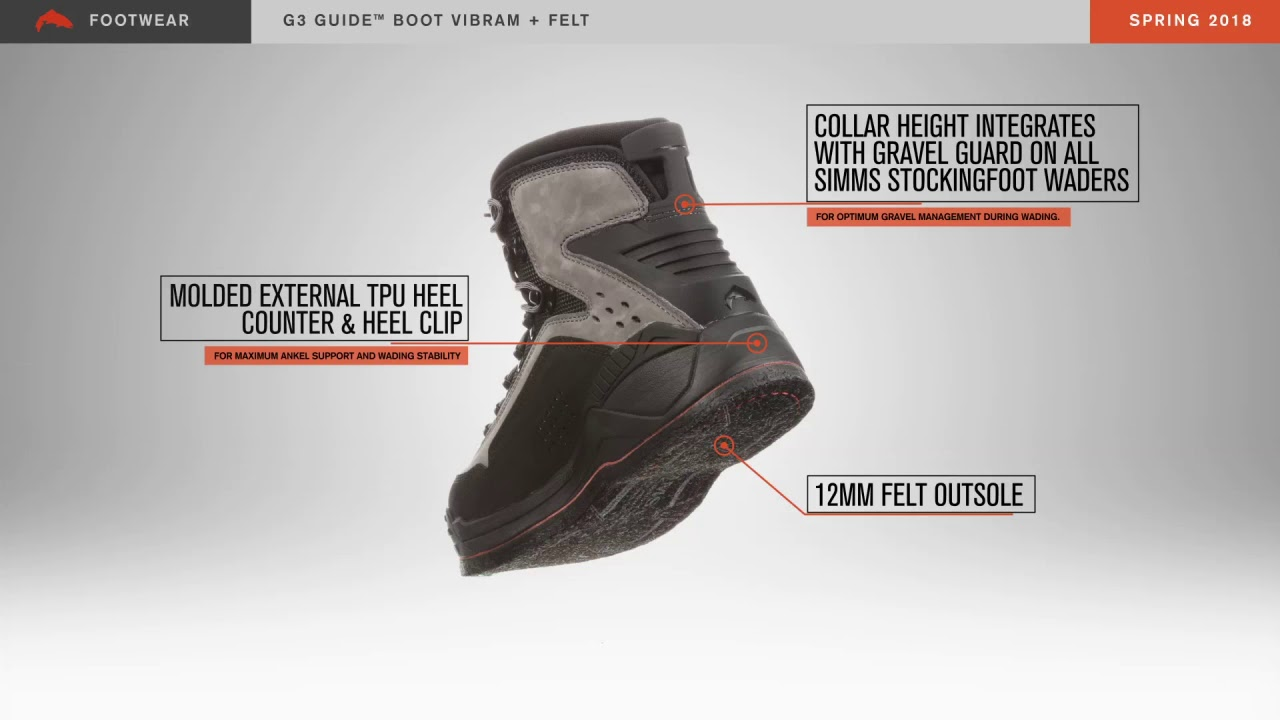Details about  /Simms G3 Guide Boot Felt Sole
