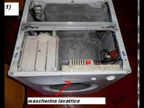 Schemi Elettrici Lavatrici Bosch : Tutorial: come smontare la mascherina della lavatrice youtube