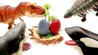 Jurassic World2 Dinosaur Eggs in Danger!! T Rex, Ankylosaurus~ Let's save our eggs. Dinosaur Toys