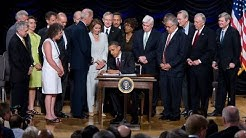 Signing the Wall Street Reform and Consumer Protection Act